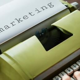 marketing typewriter