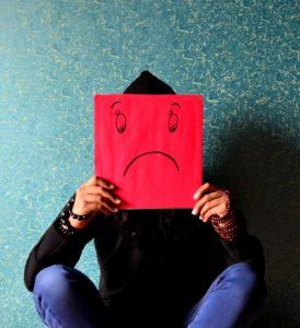 sad face drawing